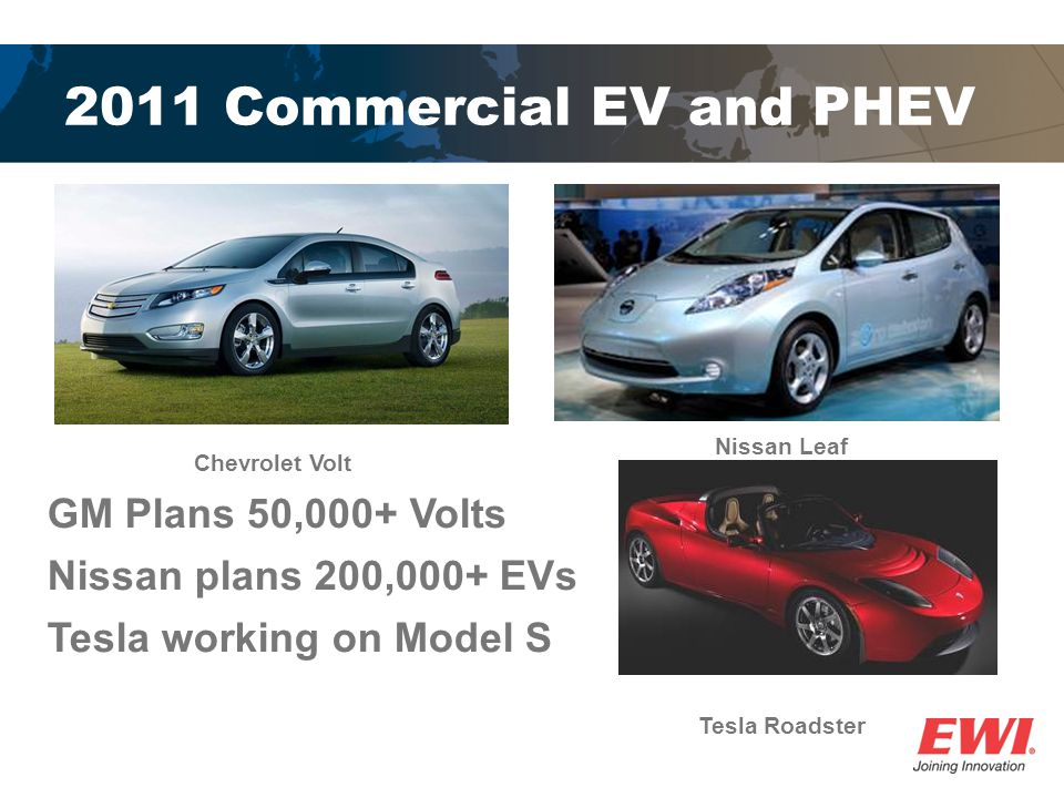 2011 Commercial EV and PHEV GM Plans 50,000+ Volts