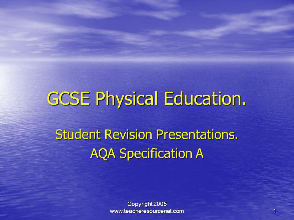 GCSE Physical Education.