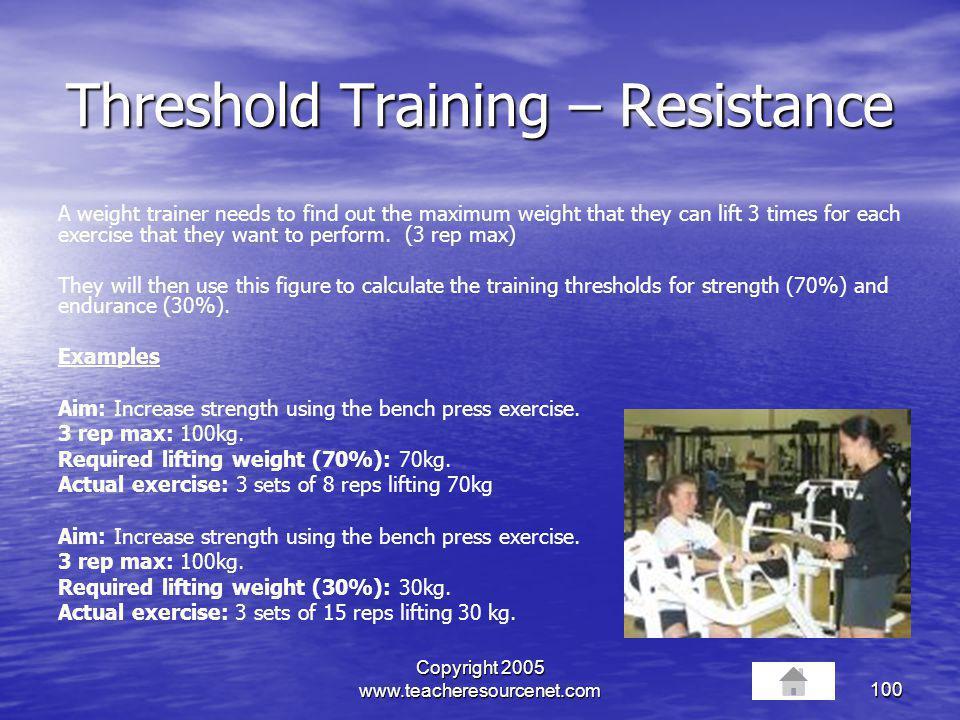 Threshold Training – Resistance