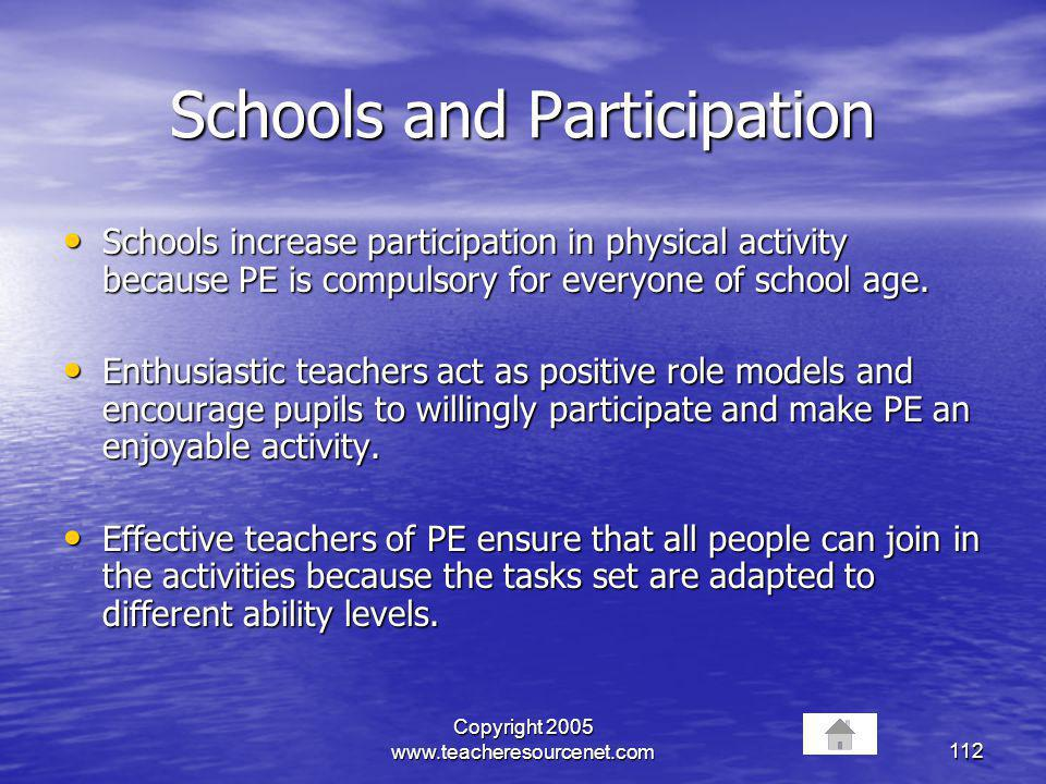 Schools and Participation