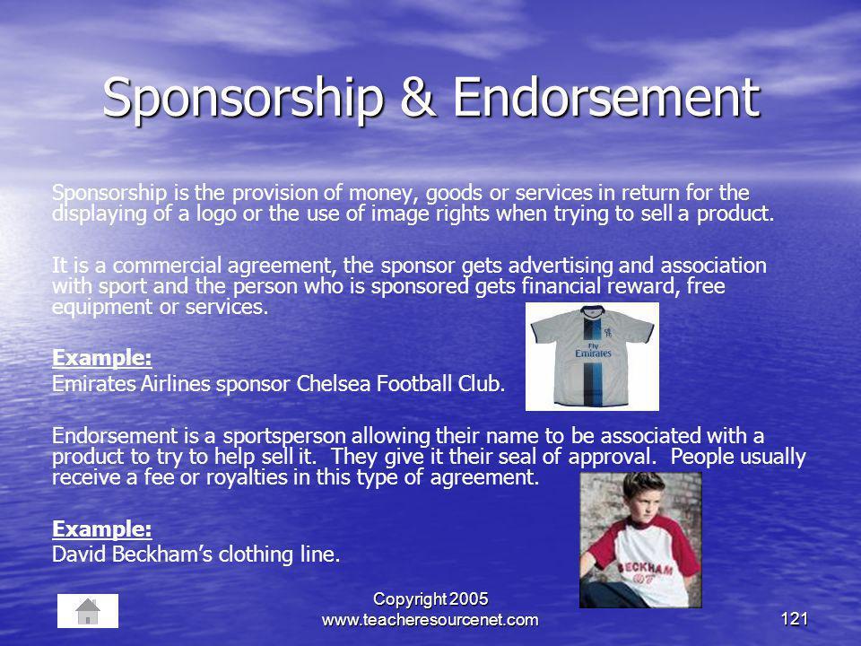 Sponsorship & Endorsement