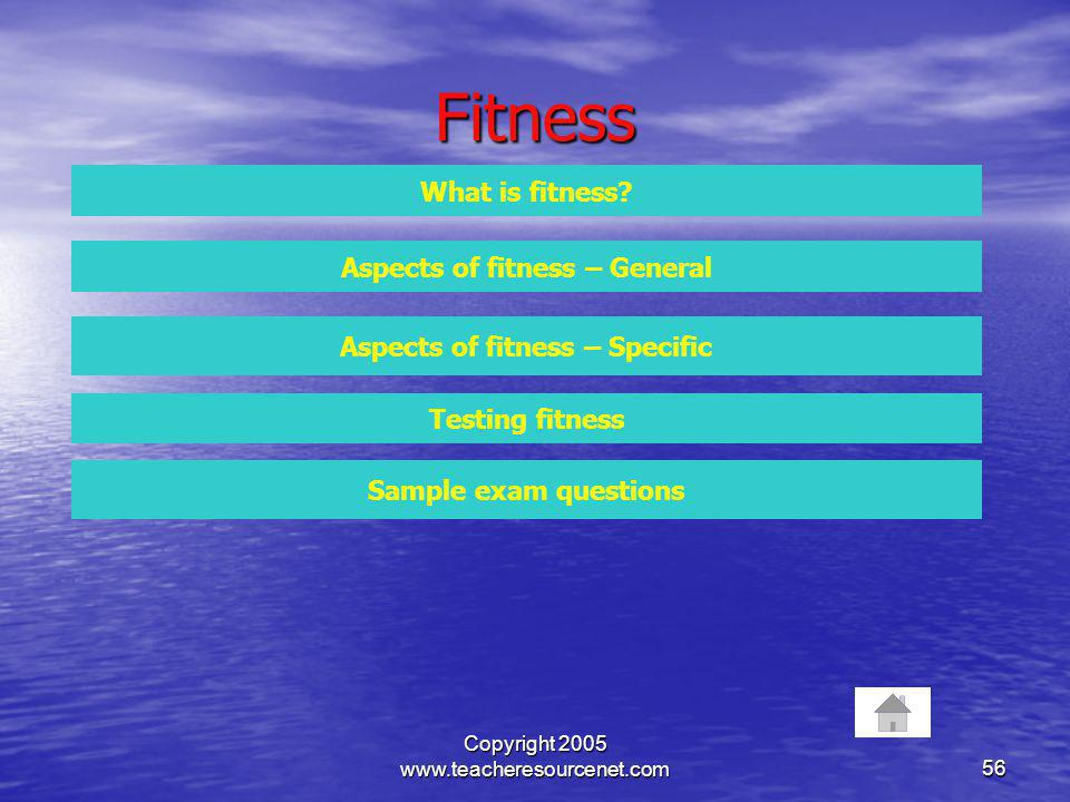 Aspects of fitness – General Aspects of fitness – Specific