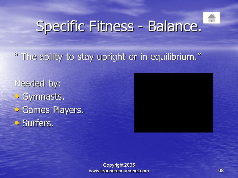 Specific Fitness - Balance.