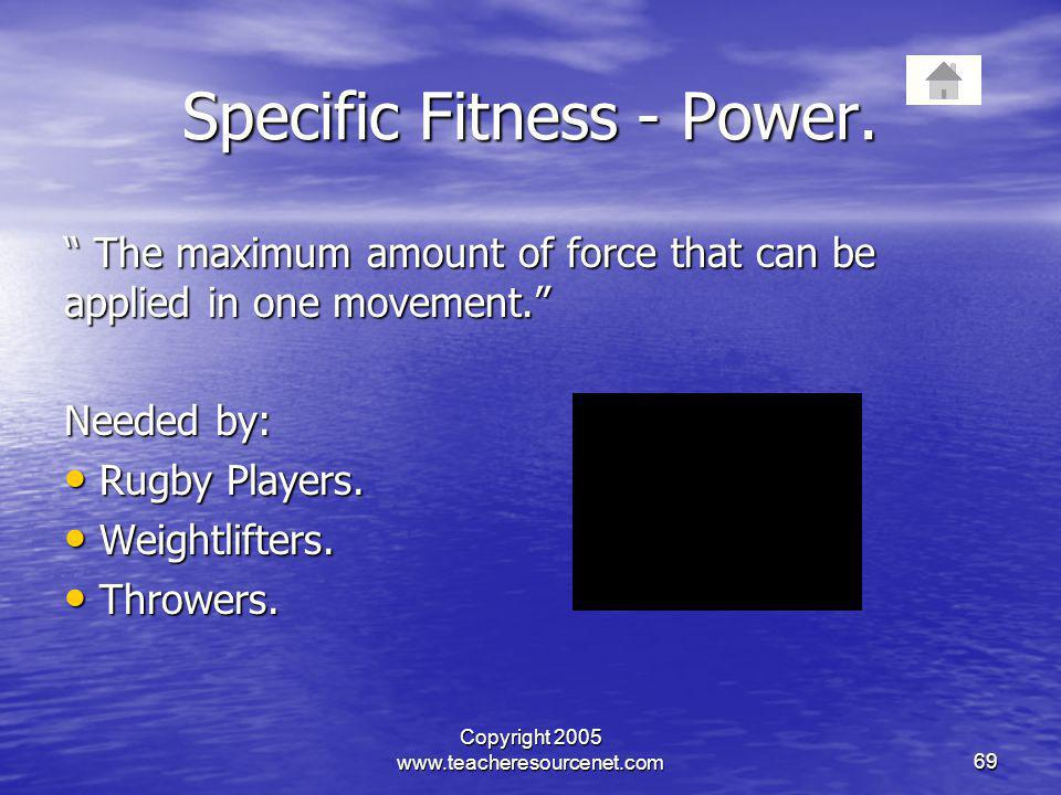 Specific Fitness - Power.