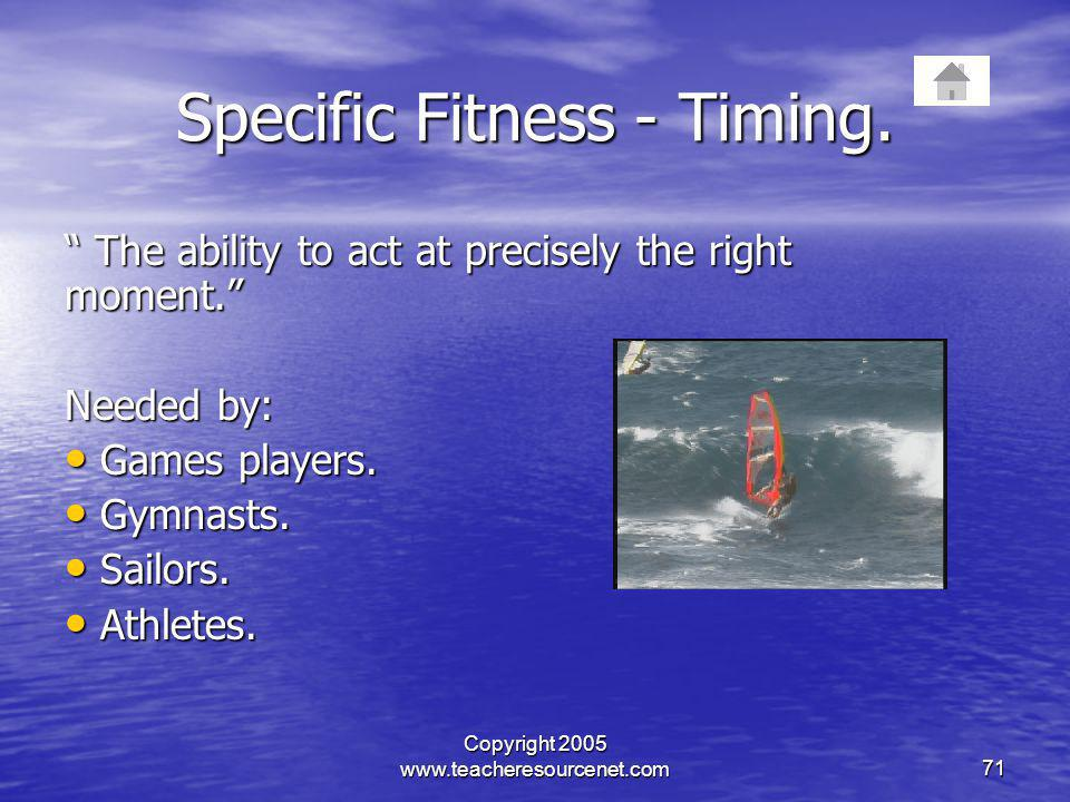 Specific Fitness - Timing.