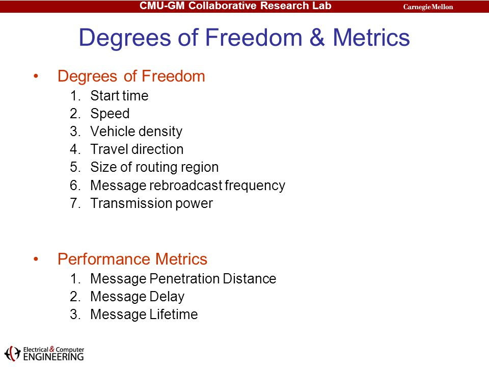 Degrees of Freedom & Metrics
