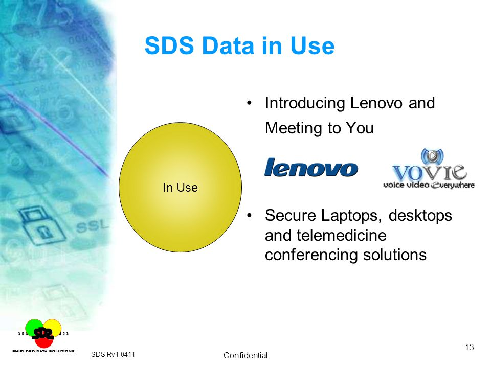 SDS Data in Use Introducing Lenovo and Meeting to You