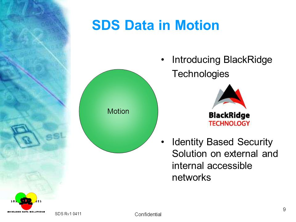 SDS Data in Motion Introducing BlackRidge Technologies