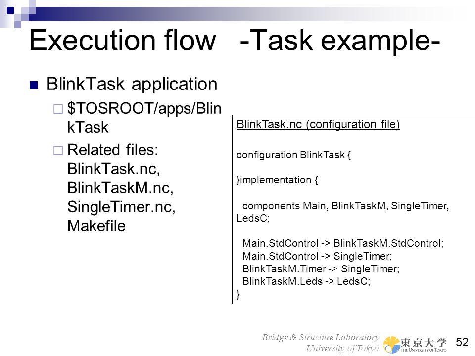 Execution flow -Task example-
