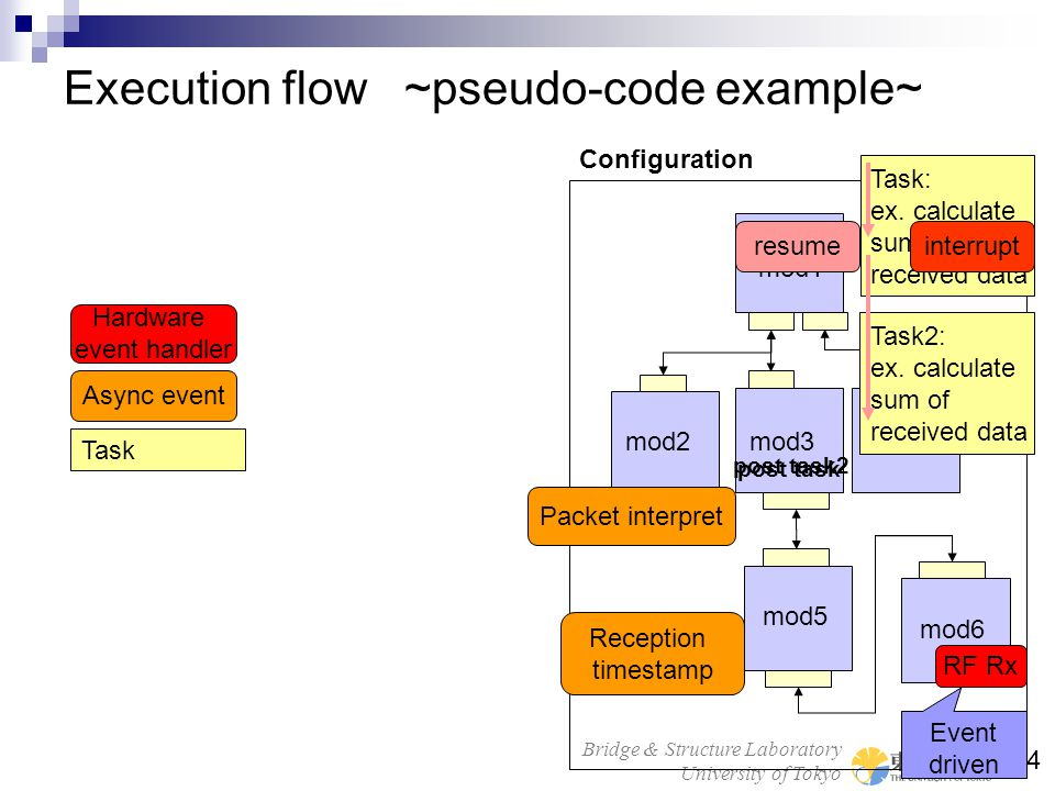 Execution flow ~pseudo-code example~