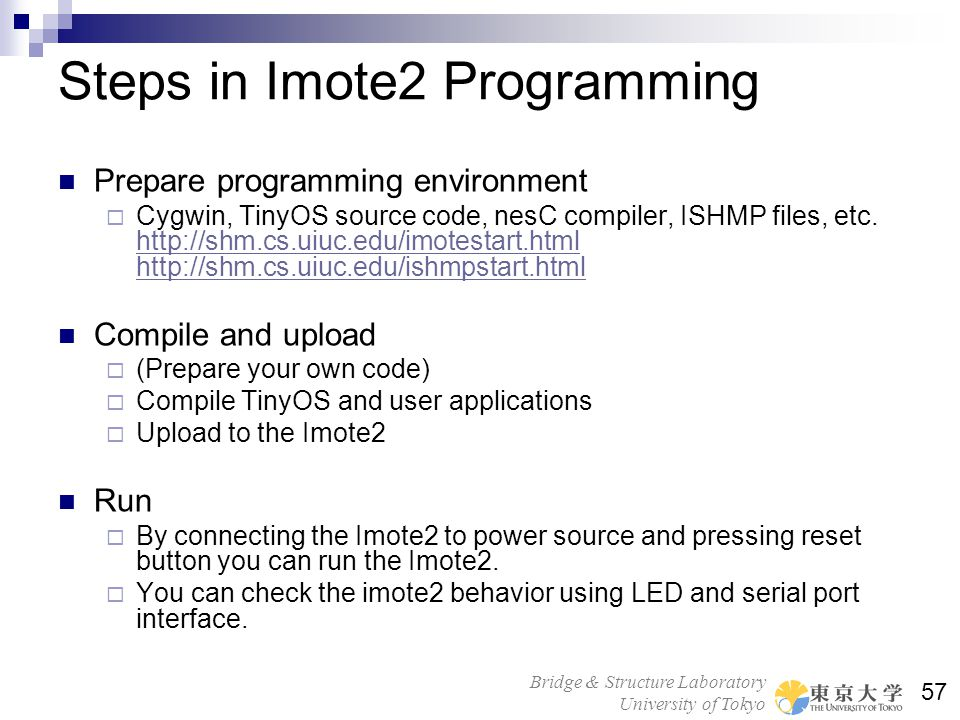 Steps in Imote2 Programming