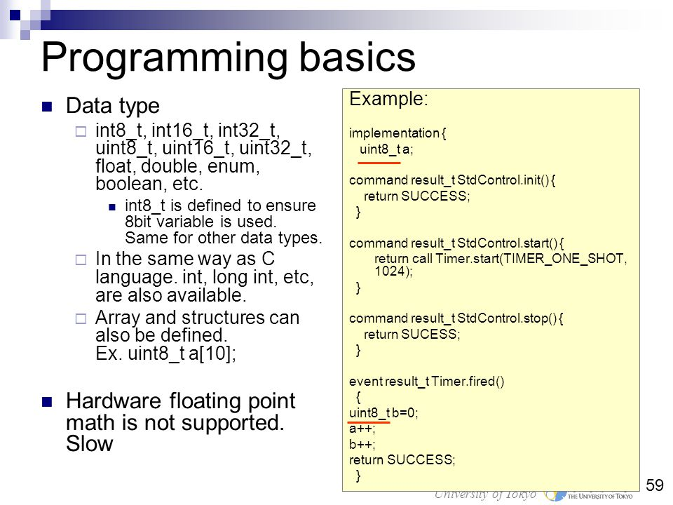 Programming basics Data type