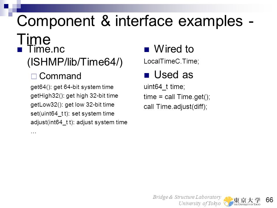 Component & interface examples - Time
