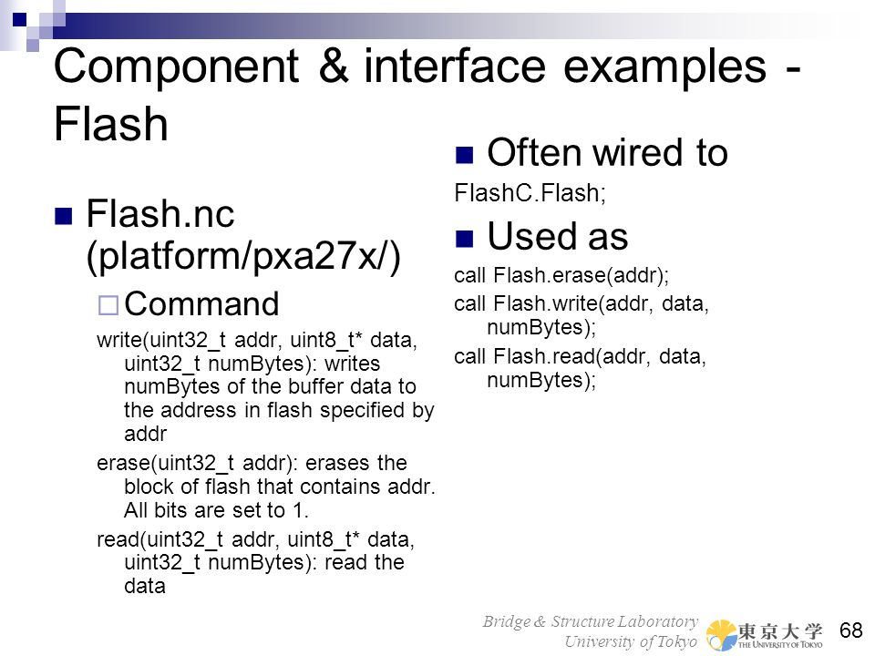 Component & interface examples - Flash