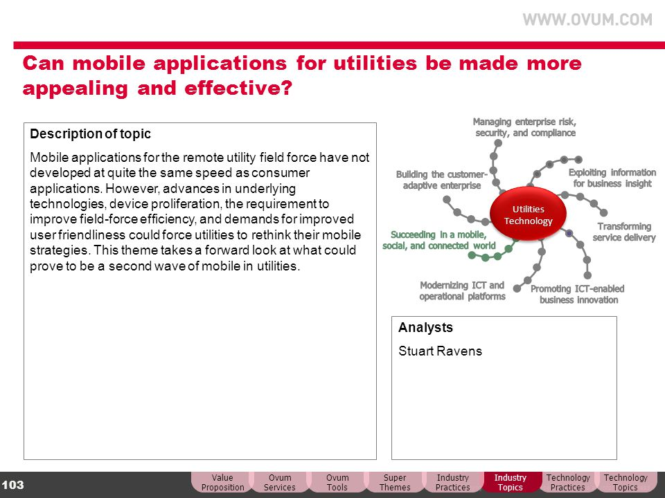 Can mobile applications for utilities be made more appealing and effective