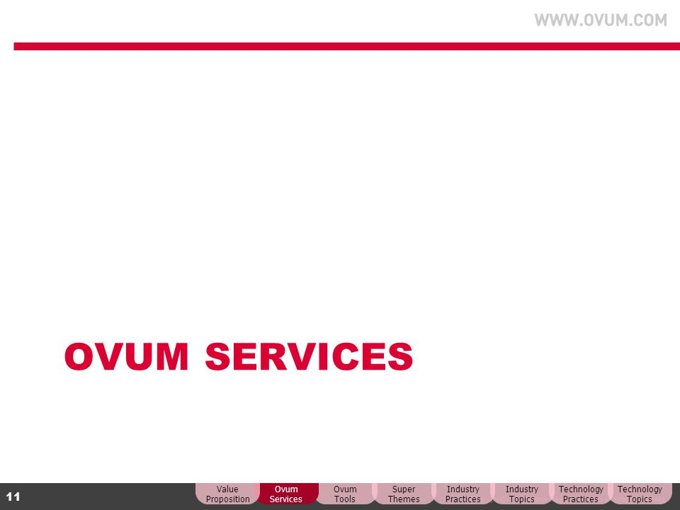 OVUM Services Value Proposition Ovum Services Ovum Tools Super Themes