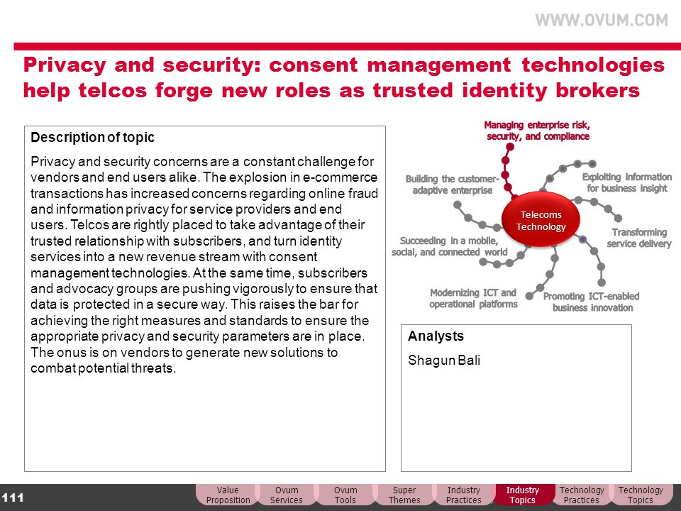 Privacy and security: consent management technologies help telcos forge new roles as trusted identity brokers
