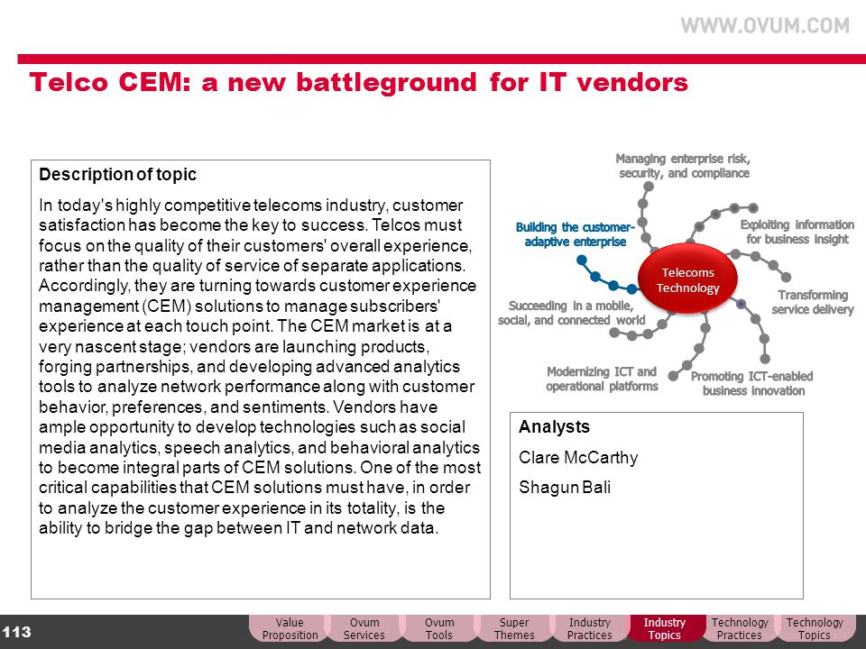 Telco CEM: a new battleground for IT vendors