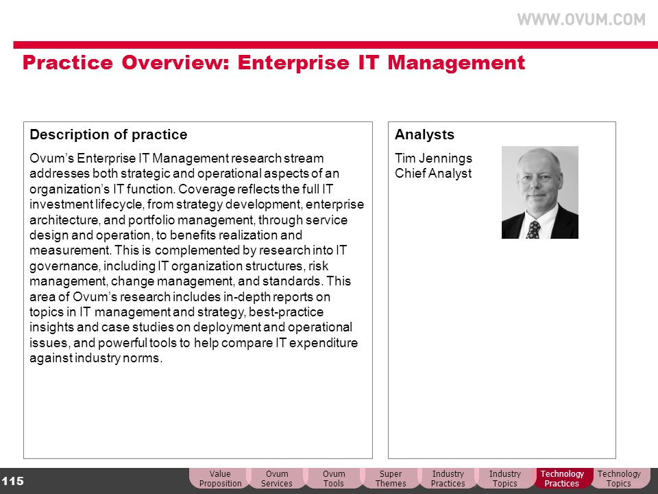 Practice Overview: Enterprise IT Management