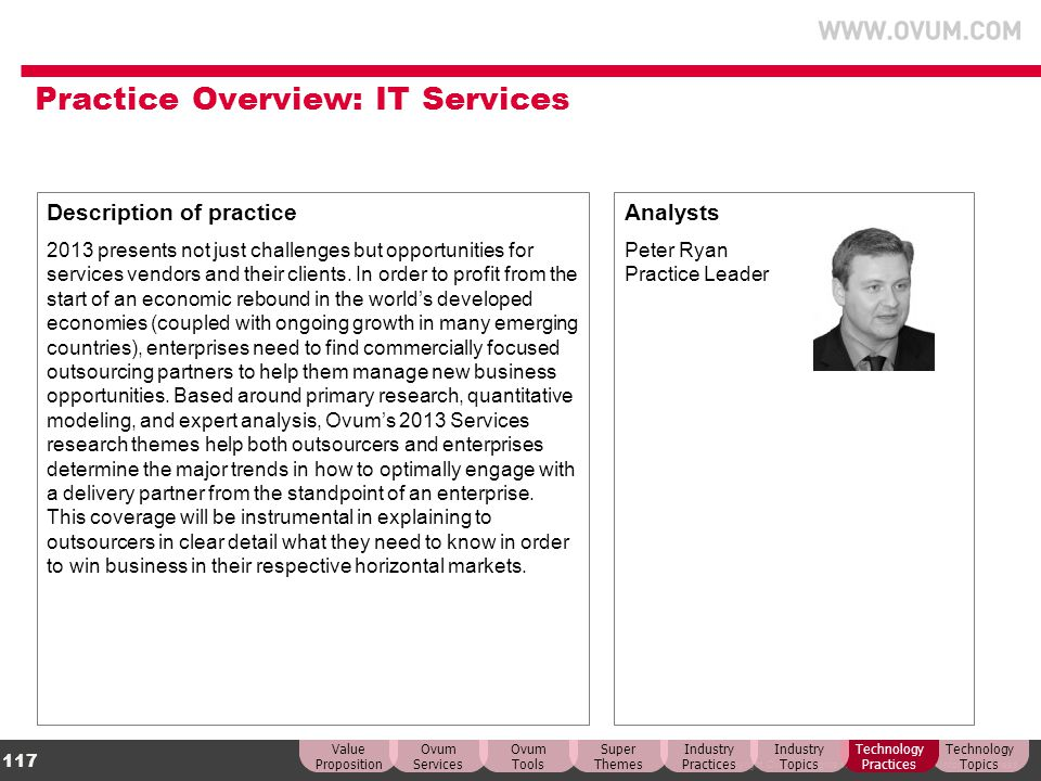 Practice Overview: IT Services