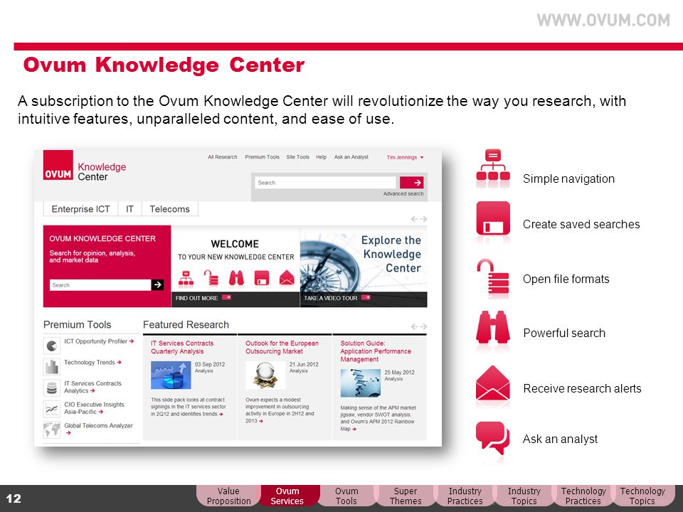 Ovum Knowledge Center