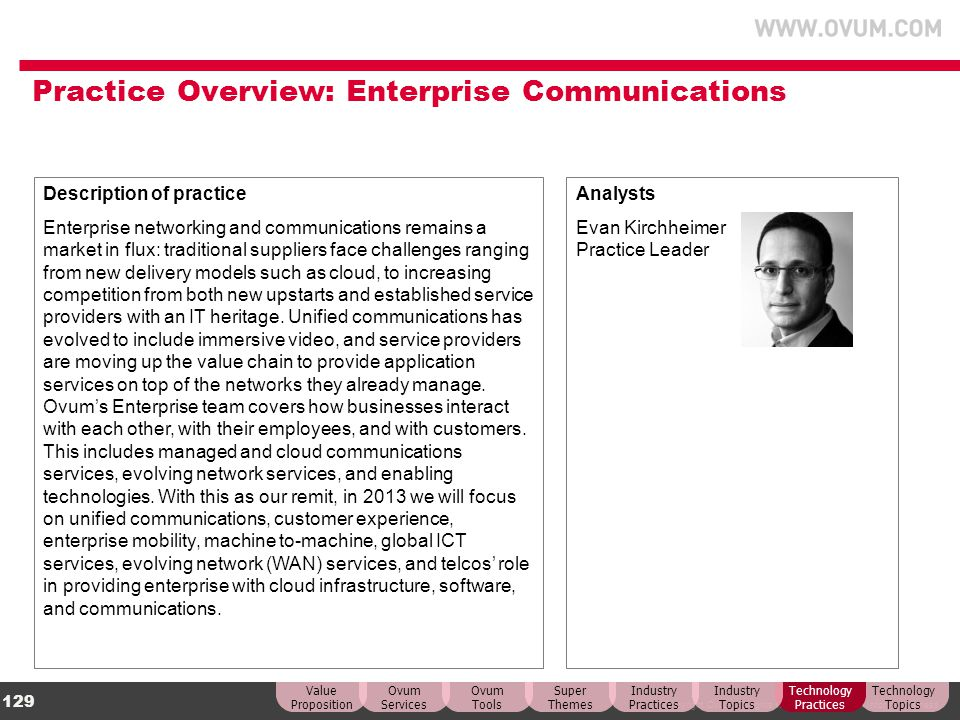 Practice Overview: Enterprise Communications