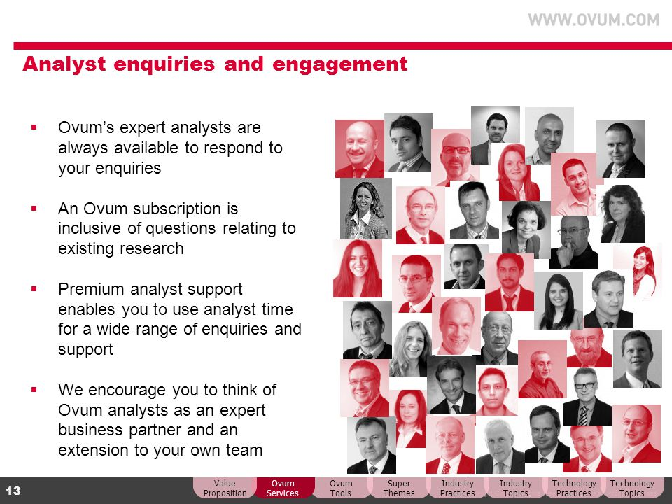 Analyst enquiries and engagement