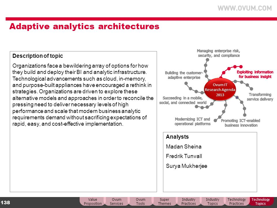 Adaptive analytics architectures
