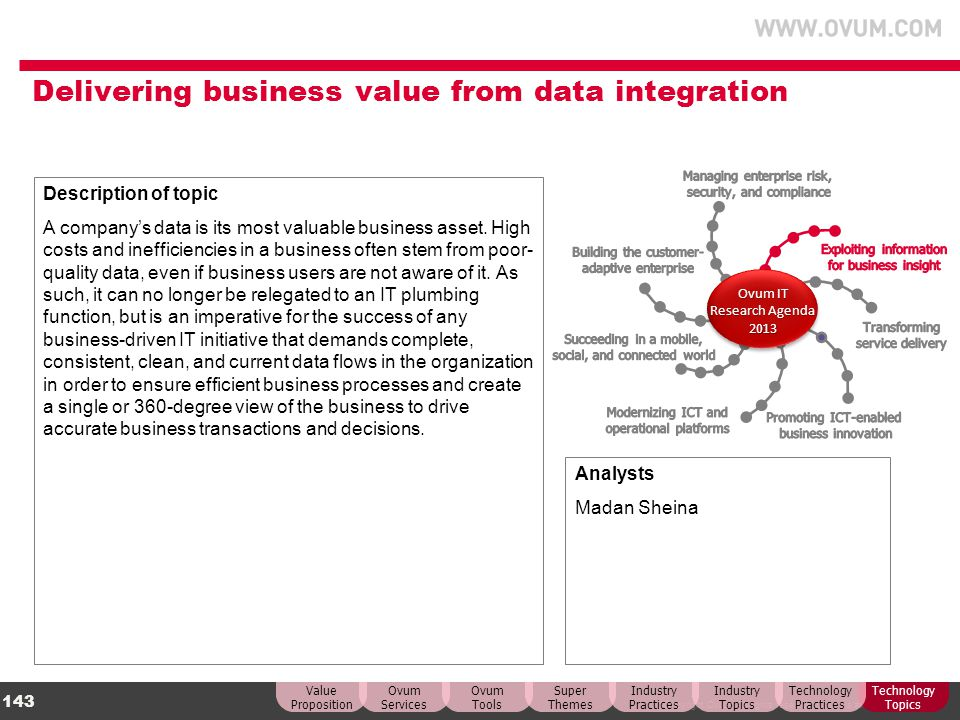 Delivering business value from data integration