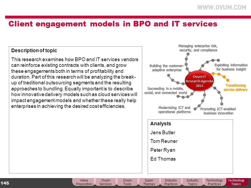 Client engagement models in BPO and IT services