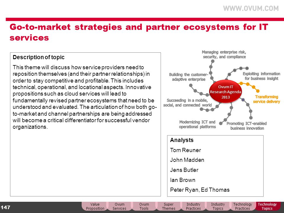 Go-to-market strategies and partner ecosystems for IT services