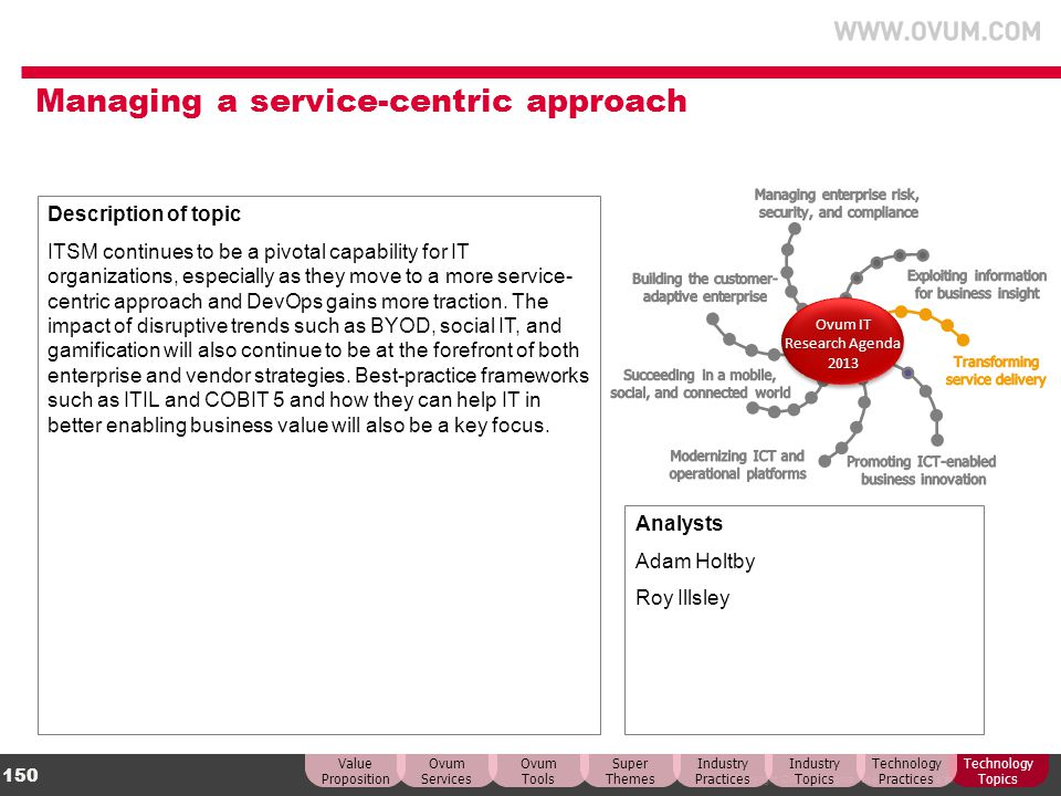 Managing a service-centric approach