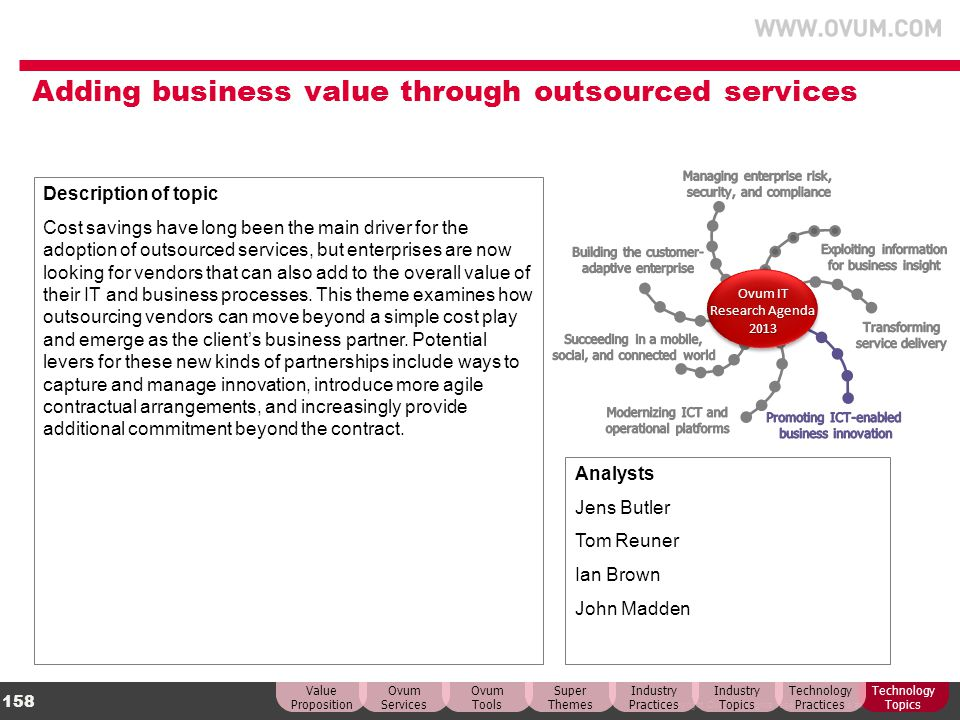 Adding business value through outsourced services
