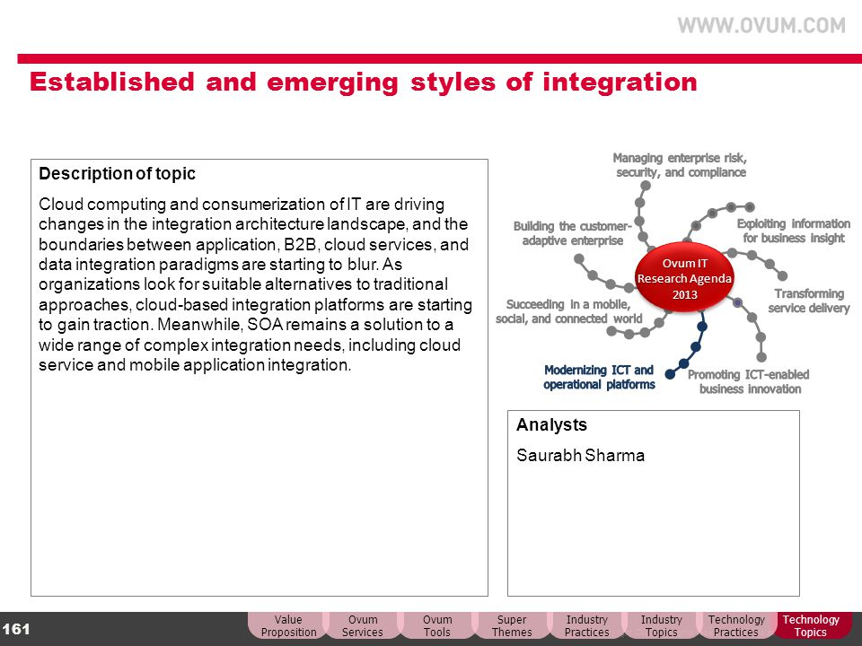 Established and emerging styles of integration