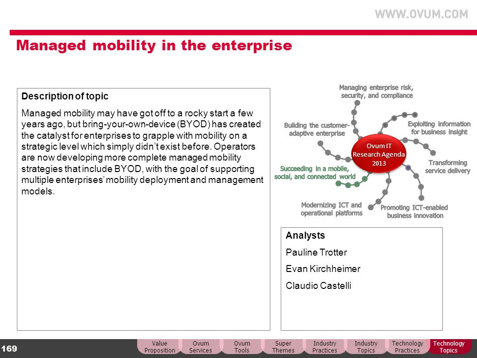 Managed mobility in the enterprise