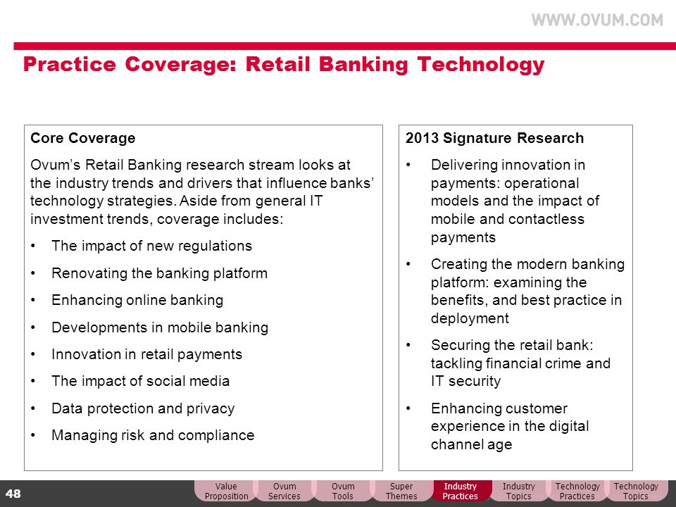 Practice Coverage: Retail Banking Technology