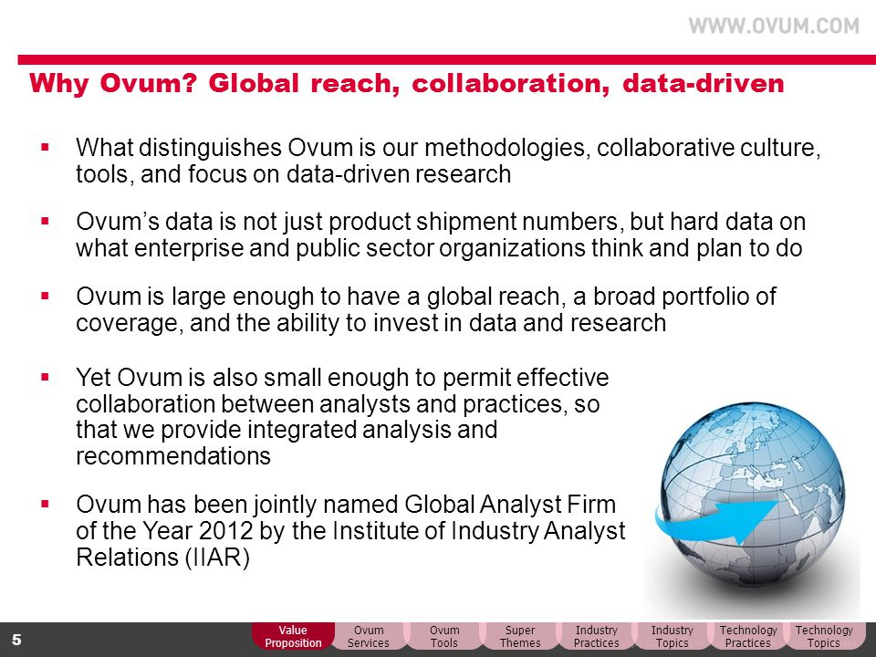 Why Ovum Global reach, collaboration, data-driven