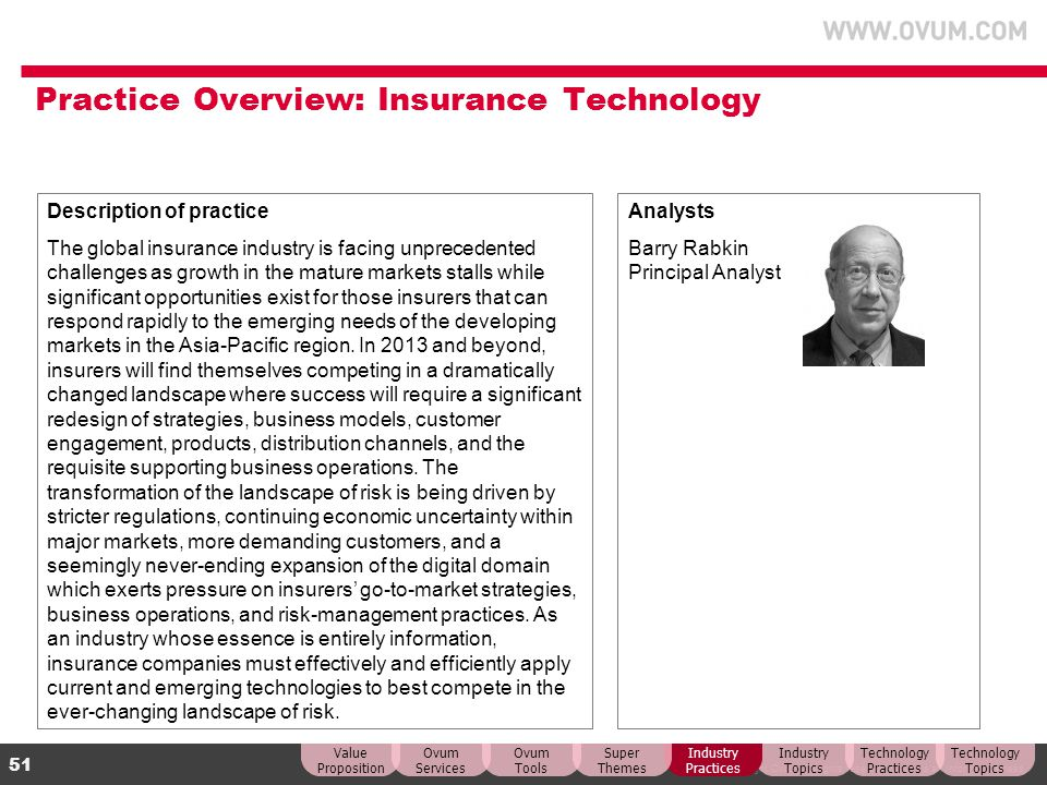 Practice Overview: Insurance Technology