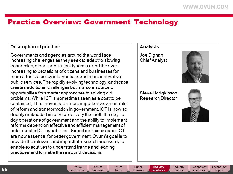 Practice Overview: Government Technology