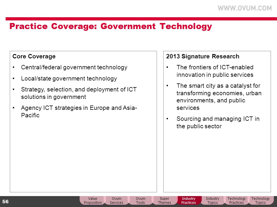Practice Coverage: Government Technology