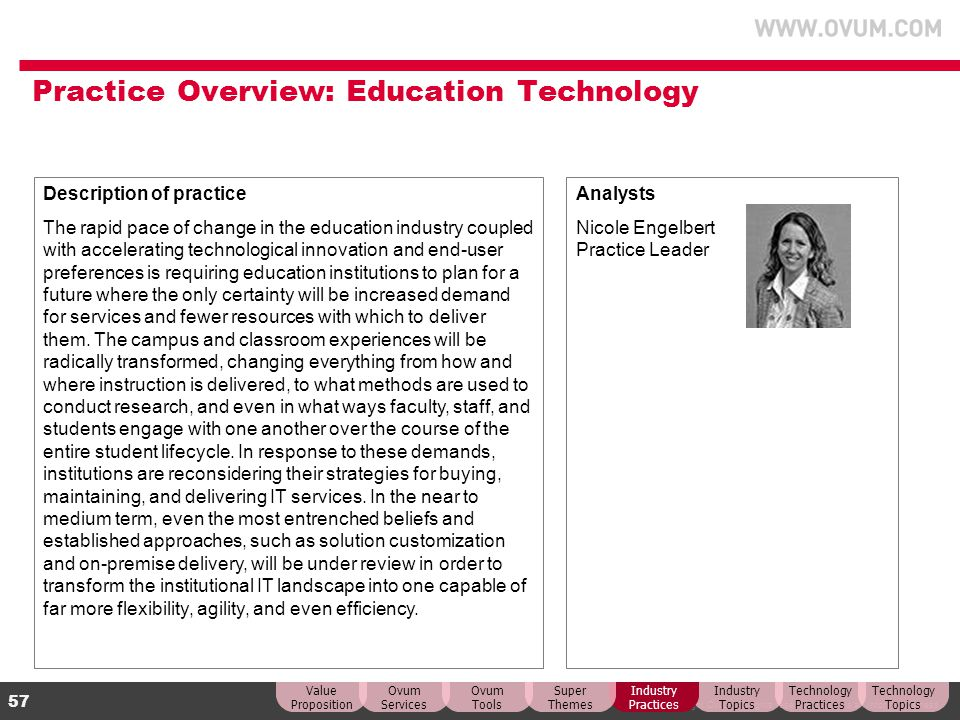 Practice Overview: Education Technology