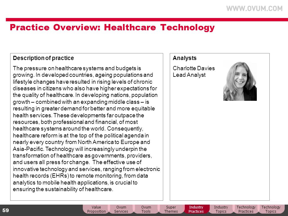 Practice Overview: Healthcare Technology