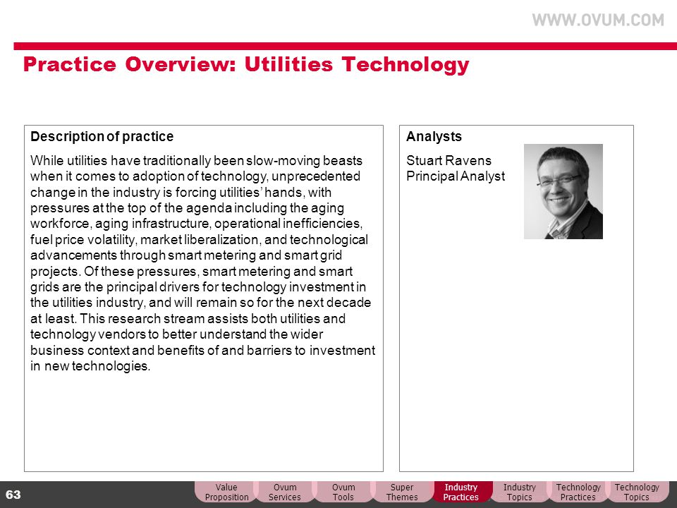 Practice Overview: Utilities Technology