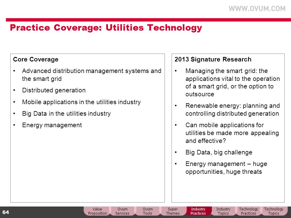 Practice Coverage: Utilities Technology