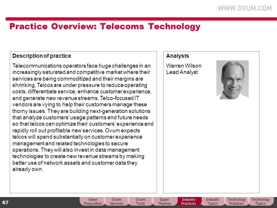 Practice Overview: Telecoms Technology