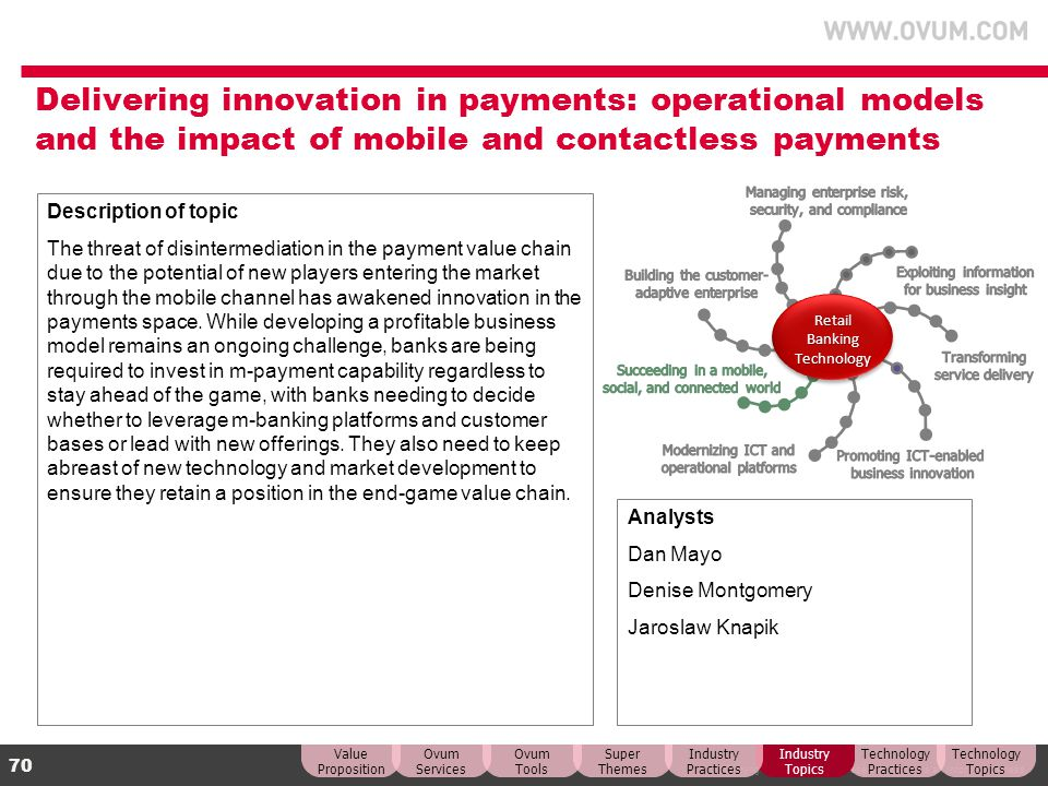 Delivering innovation in payments: operational models and the impact of mobile and contactless payments