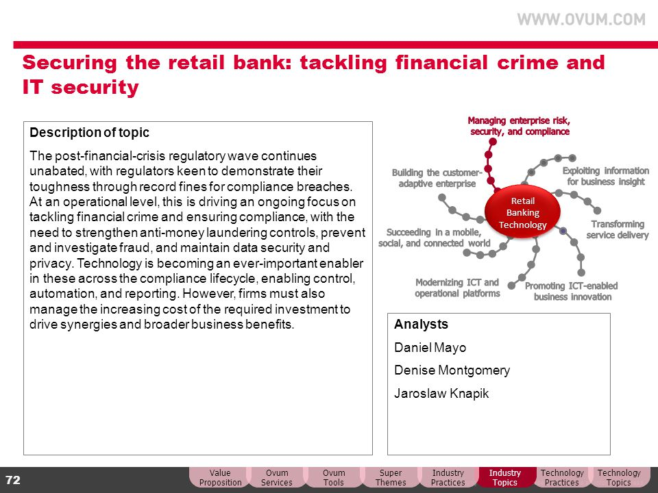 Securing the retail bank: tackling financial crime and IT security