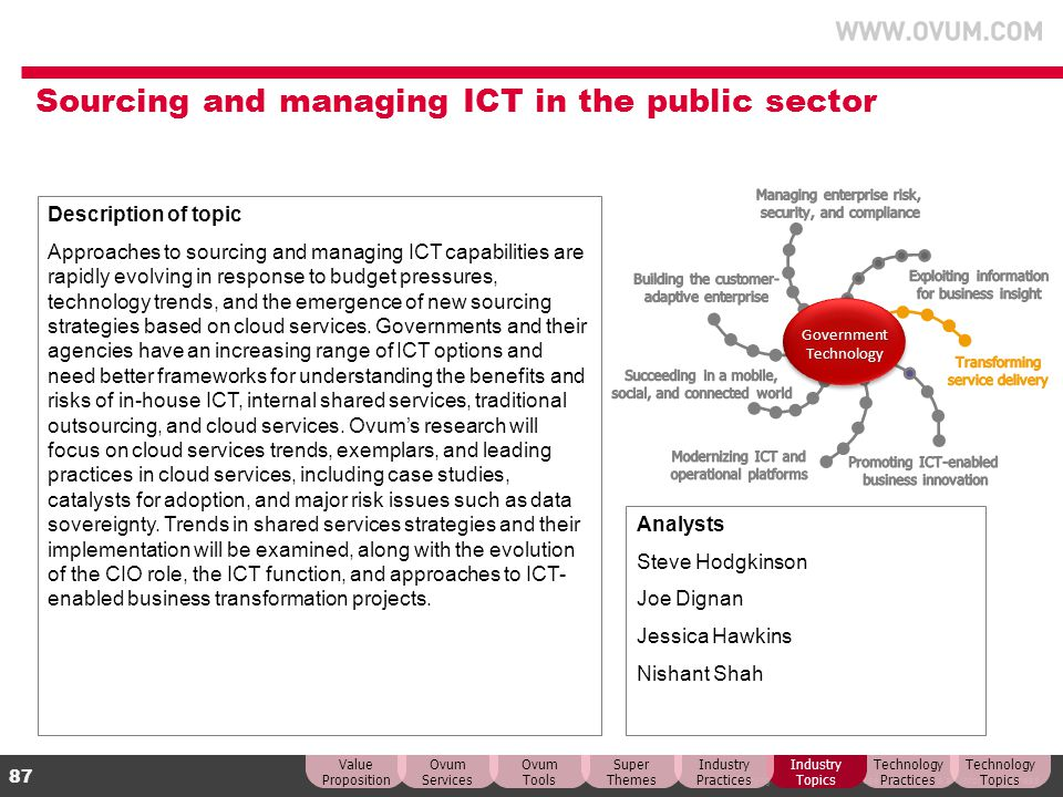 Sourcing and managing ICT in the public sector