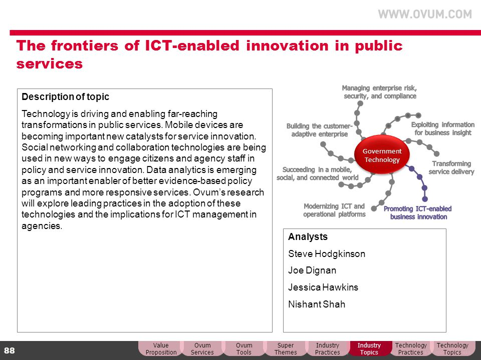 The frontiers of ICT-enabled innovation in public services