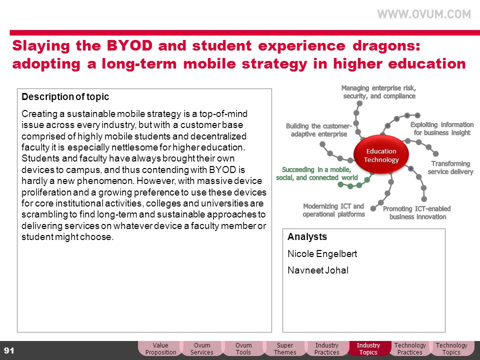Slaying the BYOD and student experience dragons: adopting a long-term mobile strategy in higher education